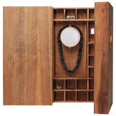 YY's Jewelry Cabinet, Walnut and Copper in Customizable Configurations