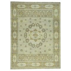 Zero Pile Hand Knotted Egyptian Mamluk Pure Wool Oriental Rug