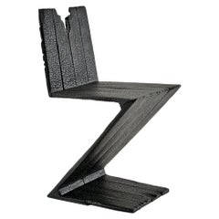 """Zig Zag Chair 2004 from """"Where There's Smoke..."""" by Maarten Baas for Moss"""