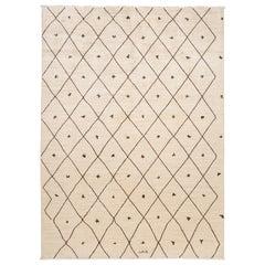 21st- Century Modern Geometric Moroccan Style Wool Rug