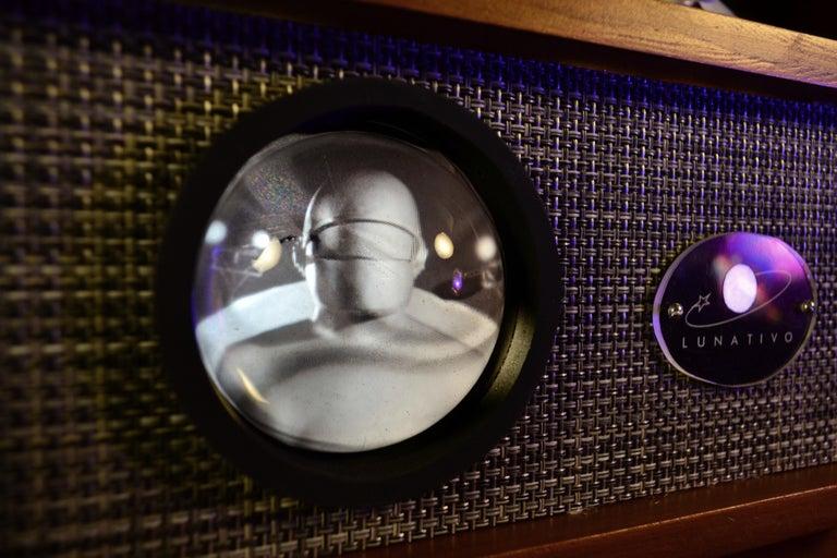 Art Donovan / Kinetic, Illuminated, Moon TV Sculpture, Midcentury/Atomic Age For Sale 2