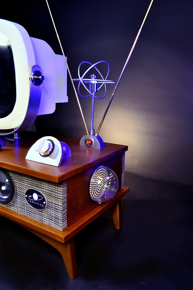 Art Donovan / Kinetic, Illuminated, Moon TV Sculpture, Midcentury/Atomic Age For Sale 8