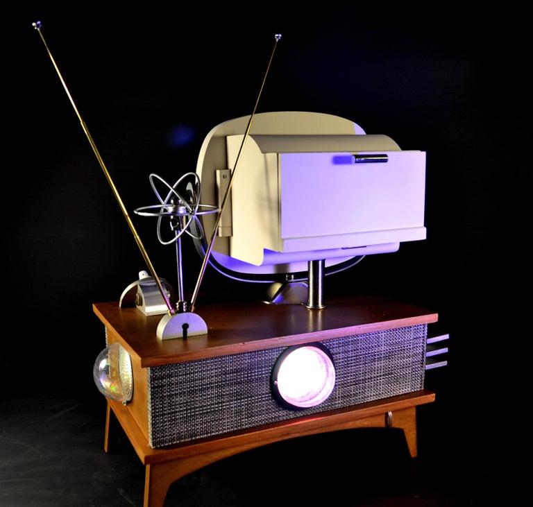 Art Donovan / Kinetic, Illuminated, Moon TV Sculpture, Midcentury/Atomic Age For Sale 9