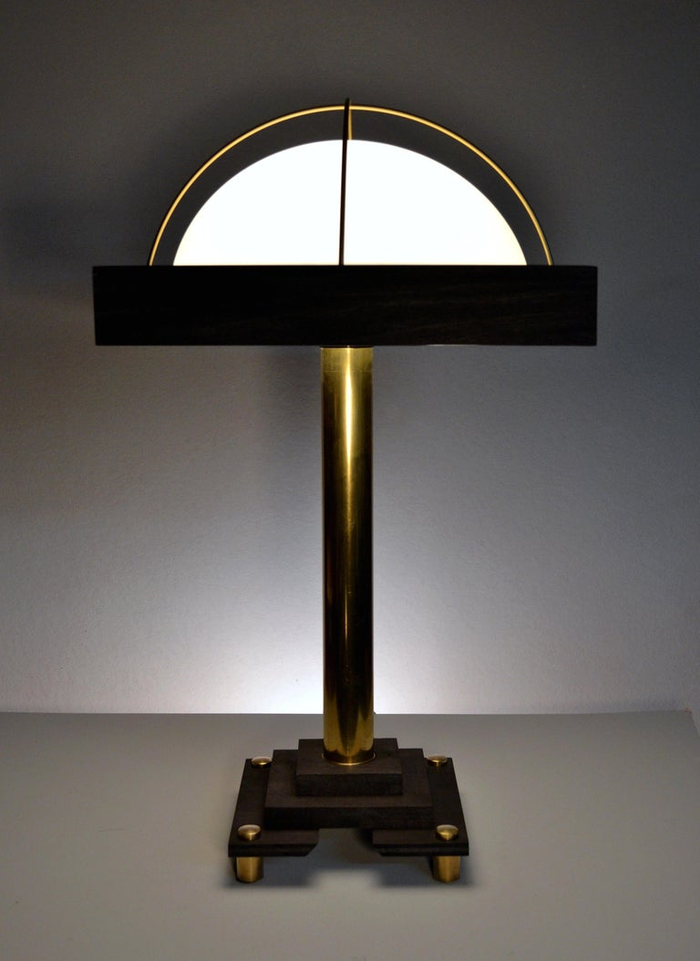 Art Donovan's clean, modernist table lamp in the Bauhaus style-