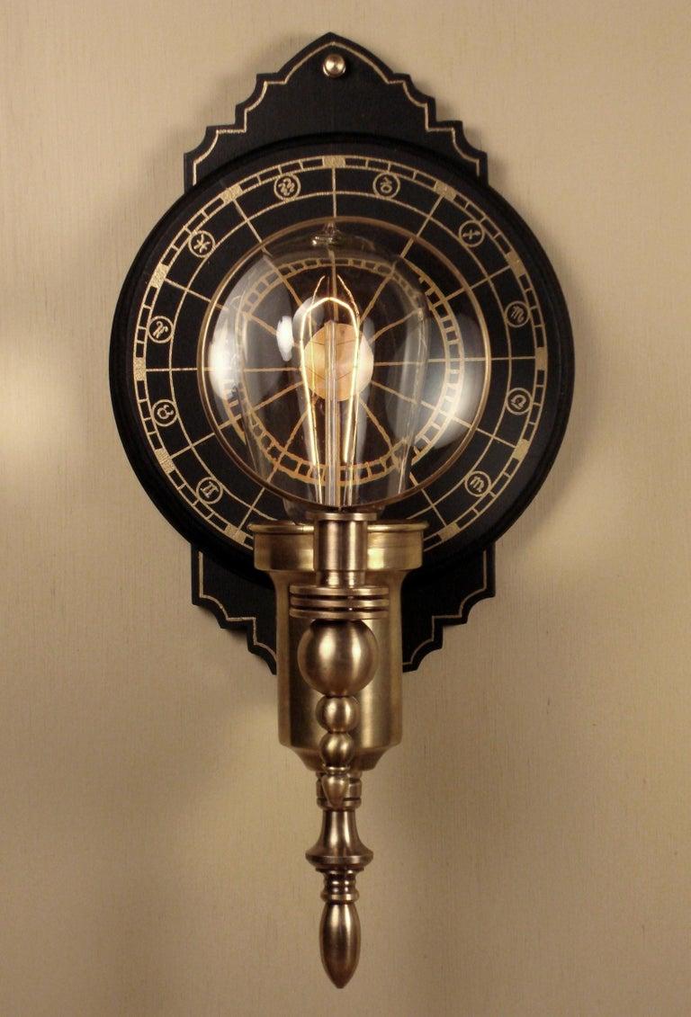 Art Donovan / Steampunk Wall Lamp,