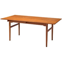 Hans J. Wegner Dining Table in Teak for Andreas Tuck, 1955