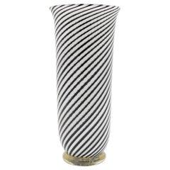 'Mezza Filigrana' Murano Glass Vase by Dino Martens