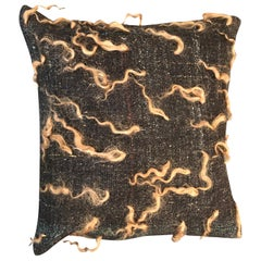 """Unico"" Brown Wool Pillow by Le Lampade"