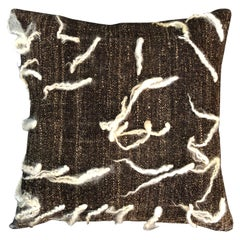 """""""Unico"""" Brown Wool Pillow by Le Lampade"""