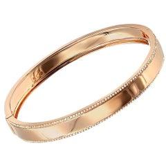 0. 50 Carat Diamond Trimmed 14 Kt Rose Gold High Polish Bracelet