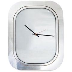 #004-Boeing 747 Window Clock, Polished Aluminium and Polished Aluminium Face
