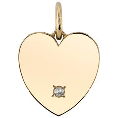 Handcrafted Minnie Rose Cut Diamond Pendant in 18K Yellow Gold by Single Stone
