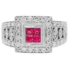 0.12 Carat Ruby Diamond Ring