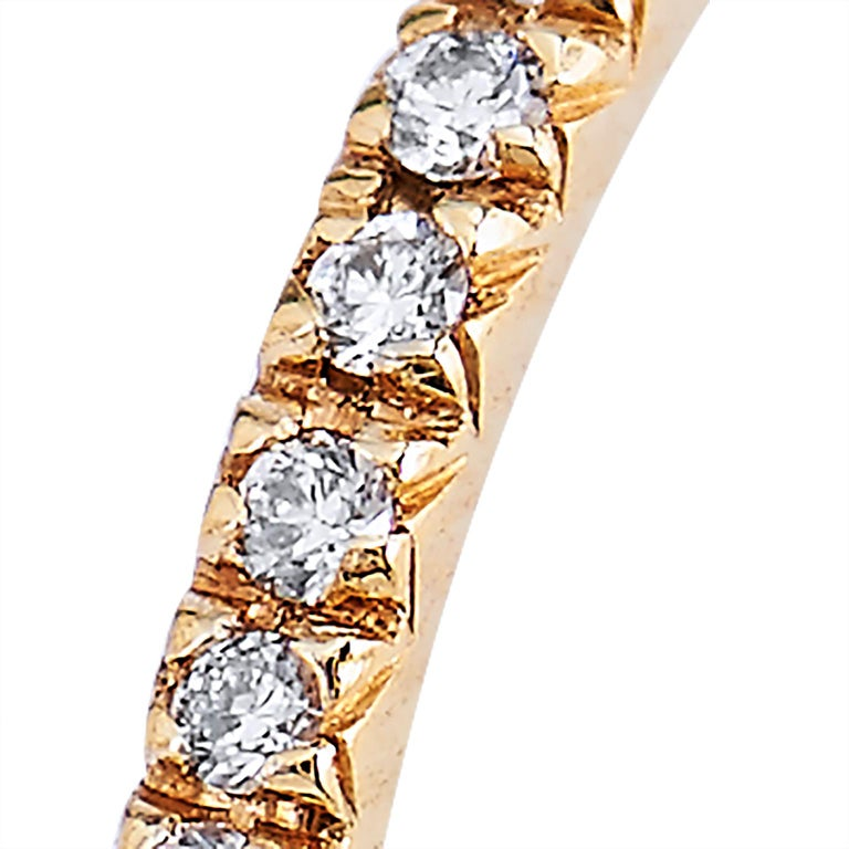 18 Karat Yellow Gold Band Ring with 0.14 Carats Total Weight of Diamonds In New Condition For Sale In Miami, FL
