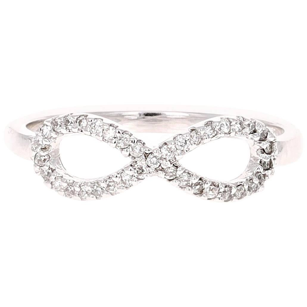 Diamond Infinity Ring in 14K White Gold