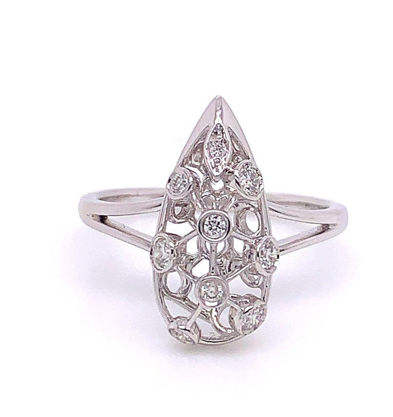 Contemporary 0.20 Carat Net Diamond Ring For Sale
