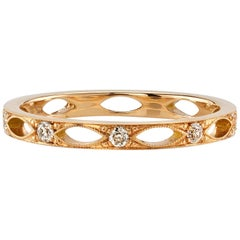 Handcrafted Alexander Old European Cut Diamond Eternity Band by Single Stone