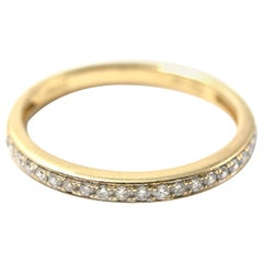 0.21 Carat Diamond 14 Karat Yellow Gold Band