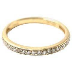 0.21 Carat Diamond 14 Karat Yellow Gold Band
