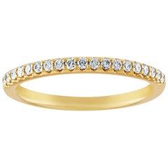0.21 Carat Diamond Gold Half Band Ring
