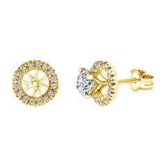 0.22 Carat Mini Round Diamond Ear Jacket Add-On, 14K Yellow Gold - Shlomit Rogel