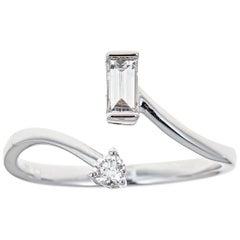 0.24 Carat Diamond 14 Karat White Gold Ring