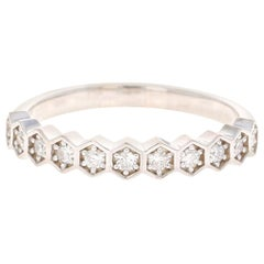 0.24 Carat Round Cut Diamond White Gold Stackable Band