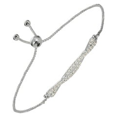 0.25 Carat Diamond Bolo Bracelet G SI 14K White Gold