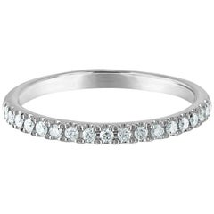 0.25 Carat Diamond Platinum Wedding Band 17 Round Diamonds, I Color, VS2 Clarity