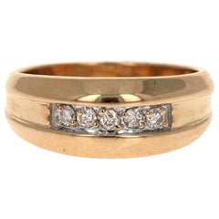0.25 Carat Men's Diamond Ring 14 Karat Yellow Gold