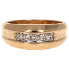 0.25 Carat Men's Diamond Ring 14 Karat Yellow Gold
