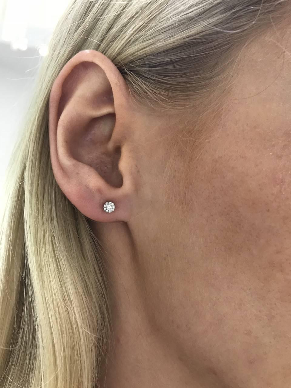 0.25 Carat Mini Cluster Earrings Round