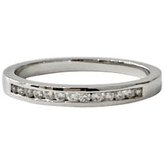 0.25 Carat Round Brilliant Cut Diamond Channel Set Eternity Ring in Platinum