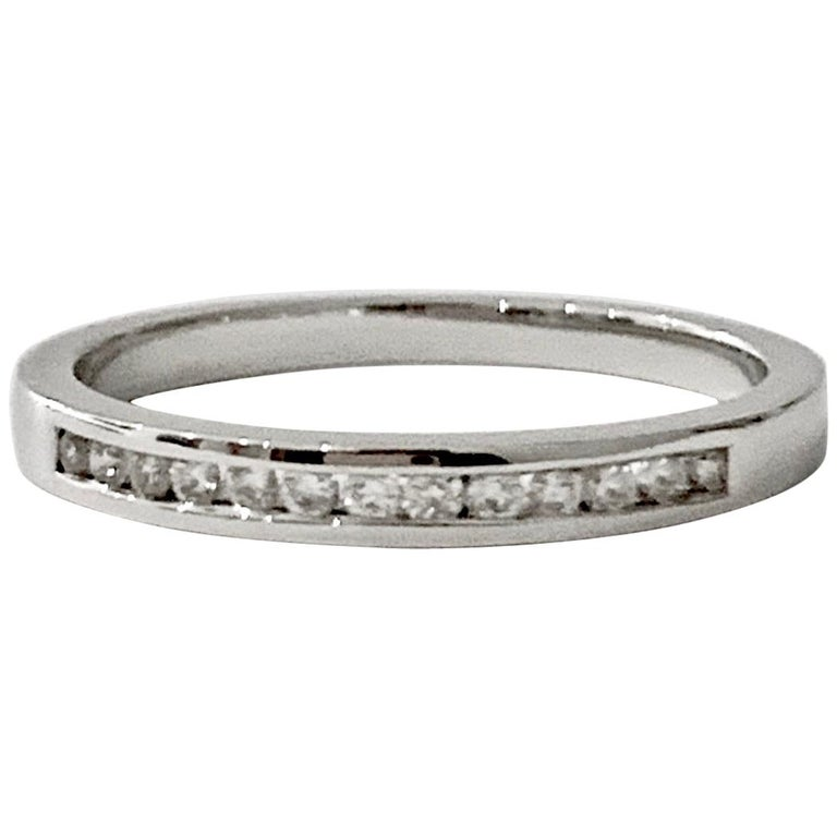 0.25 Carat Round Brilliant Cut Diamond Channel Set Eternity Ring in Platinum For Sale