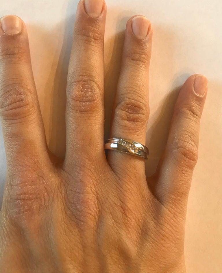 0.25 Carat Round Cut Diamond Men's Wedding Band 14 Karat White Gold For Sale 3