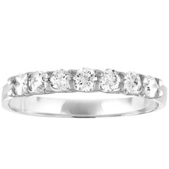 0.25 Carat Diamond Seven Stone Gold Band Ring