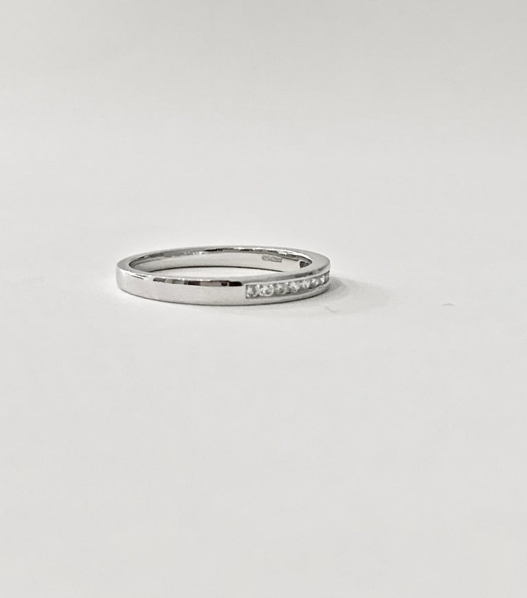 Round Cut 0.25 Carat Round Brilliant Cut Diamond Channel Set Eternity Ring in Platinum For Sale