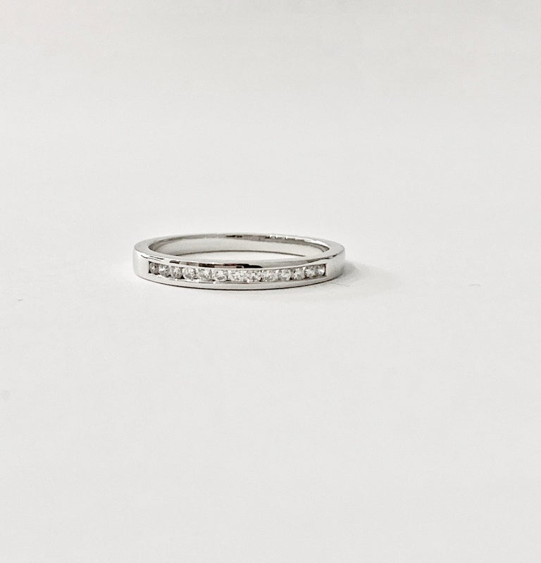 0.25 Carat Round Brilliant Cut Diamond Channel Set Eternity Ring in Platinum In New Condition For Sale In Chislehurst, Kent