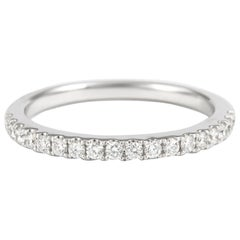 Alexander 0.26 Carat Diamond Half Eternity Band 18 Karat White Gold