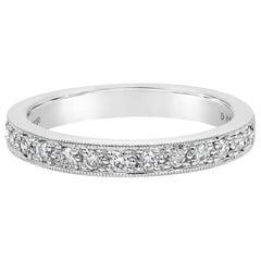 0.26 Carat Round Diamond Antique Style Wedding Band