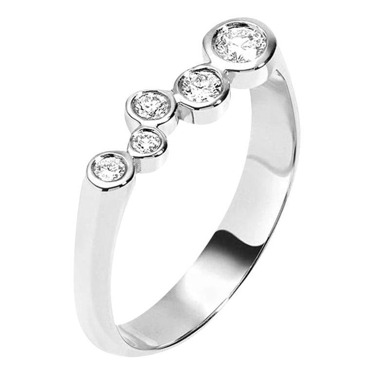Hi June Parker 14 Karat White Gold Ring 0.27 Carat Diamond