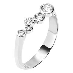 Hi June Parker 14 Karat White Gold Ring 0.27 Carat Diamond