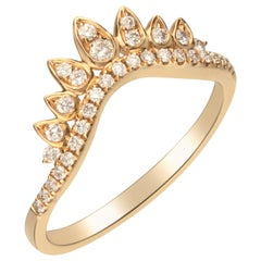 0.27 Carat Diamond 14 Karat Yellow Gold Band Ring