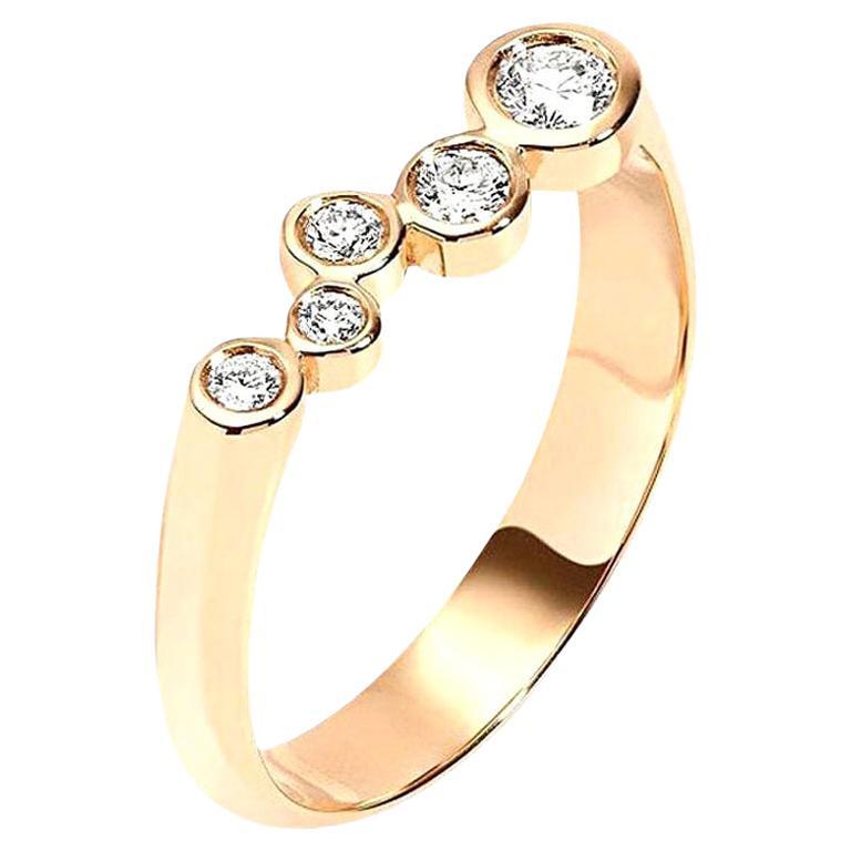 Hi June Parker 14 Karat Gold Wedding or Engagement Ring 0.27 Carat Diamond