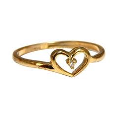 .02ct Diamond Petite Heart Ring 14kt gold