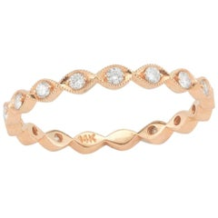 0.30 Carat Apprx Diamond Band / Ring, 14 Karat Gold, Ben Dannie