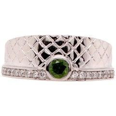 0.30 Carat Green Diamond Men's Ring