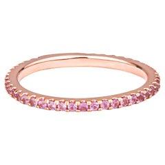0.30 Carat Light Pink Natural Sapphire Stacking Band in 14 Karat Rose Gold