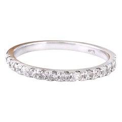 0.30 Carat Natural Diamond 18 Karat Solid White Gold Ring