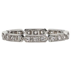 Handcrafted Carly Old European Cut Diamond Eternity Band by Single Stone